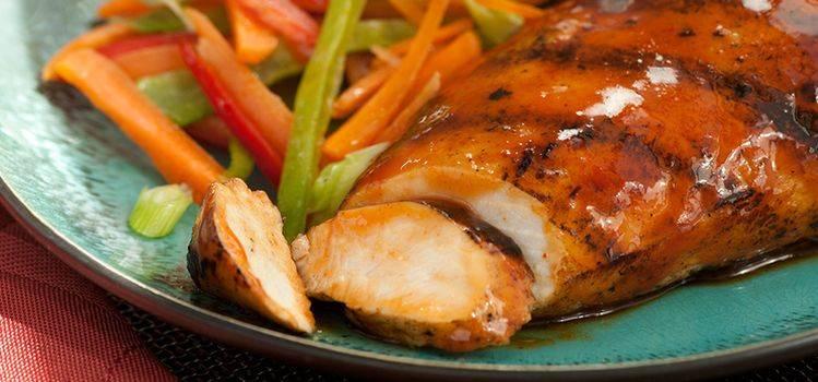 Куриное филе в горчичном соусе на сковороде. куриные грудки под горчично - сметанным соусом.