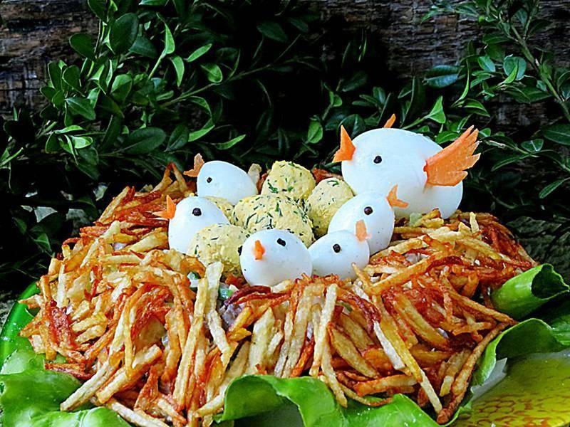 Салат «гнездо кукушки»: рецепты