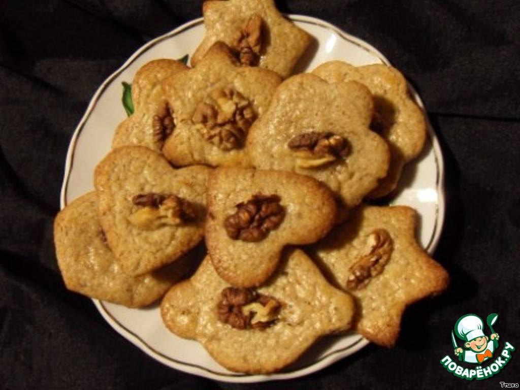 Печенье «Птички» с грецким орехом