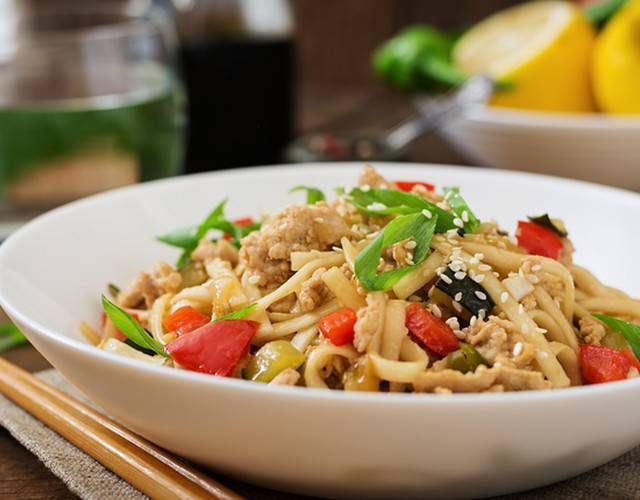 Лапша удон рецепт  приготовление вок лапши с морепродуктами