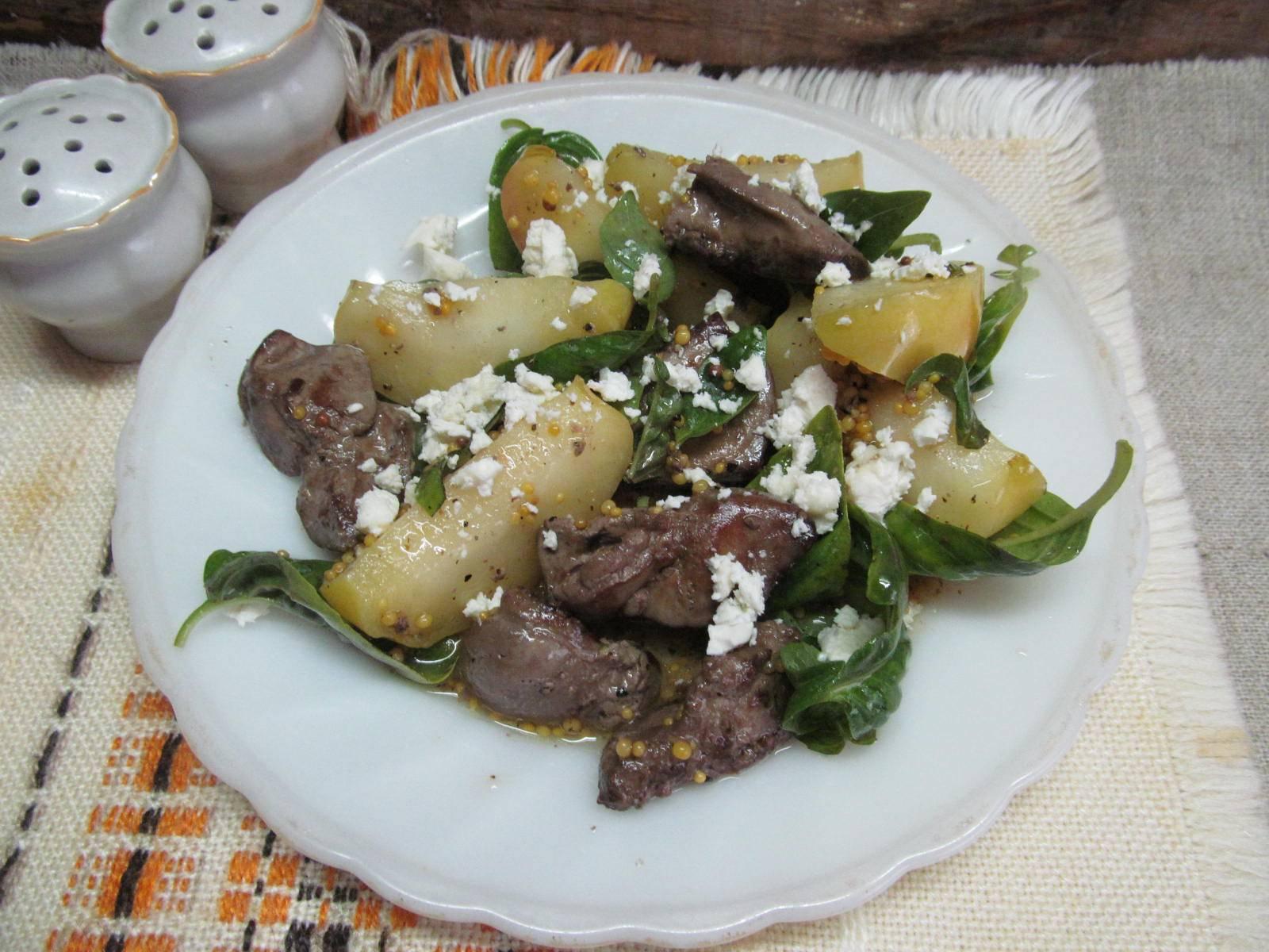 Куриная печень в яблочном соусе - 8 пошаговых фото в рецепте