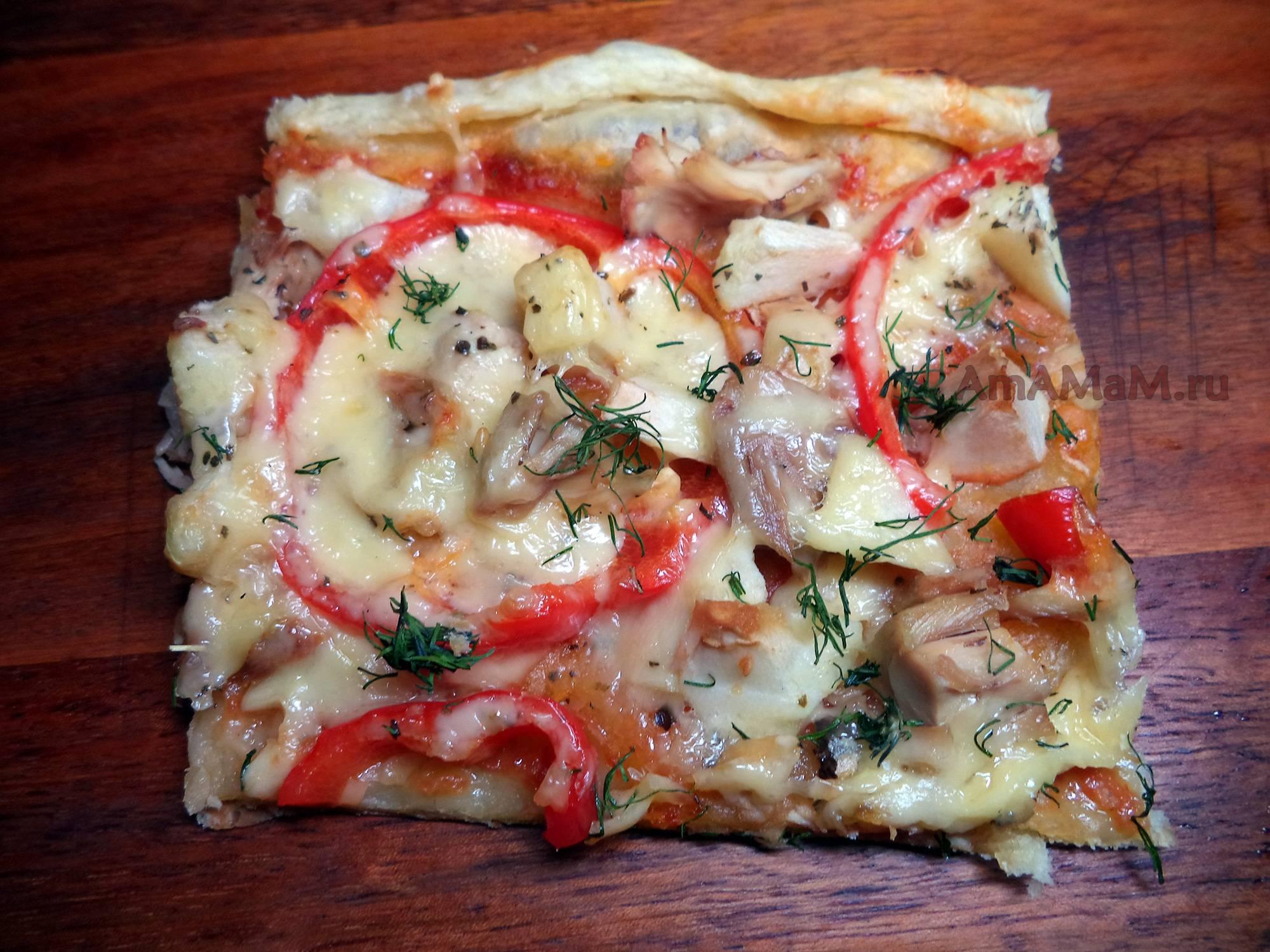 Мясная пицца с моцареллой - рецепты джуренко