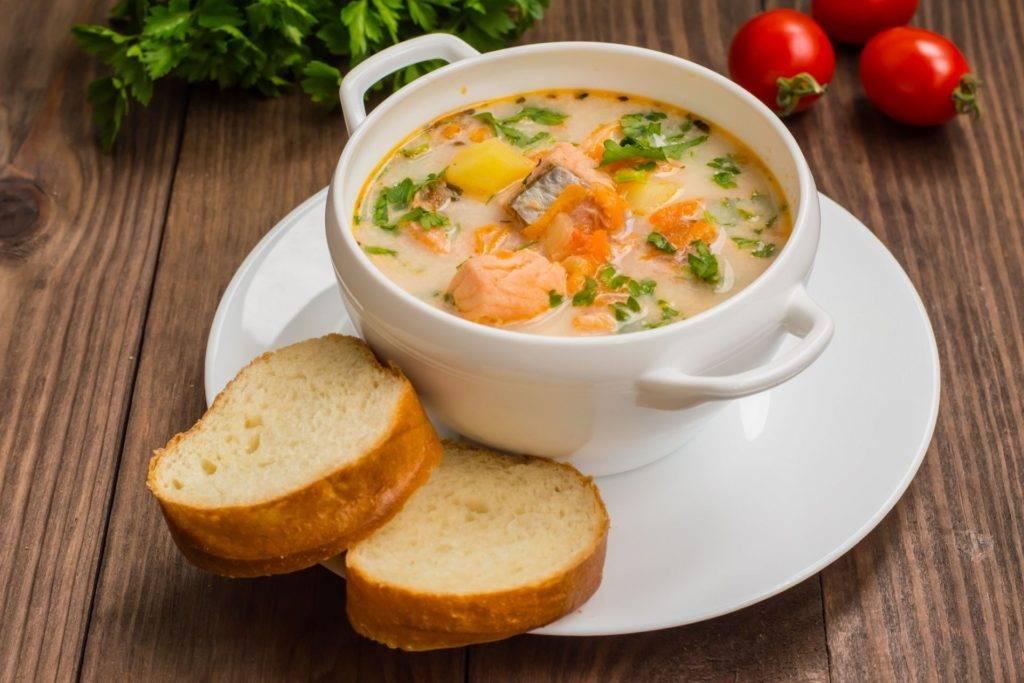 Сливочный суп с семгой, рецепт с фото.