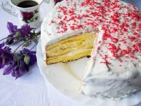 Пошаговый рецепт бисквитного торта со сметанным кремом