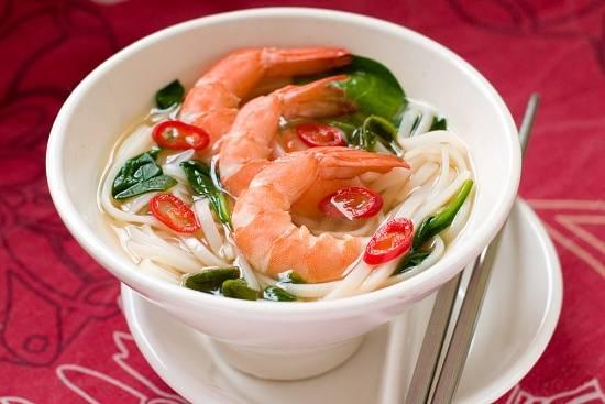 Горячая фунчоза с морепродуктами и овощами - фото рецепт, как приготовить