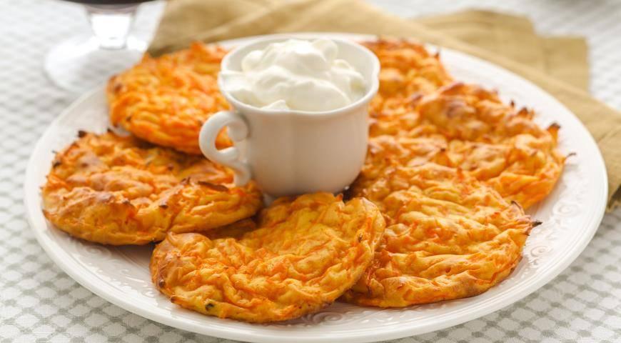 Рецепт тыквенных оладий с сыром
