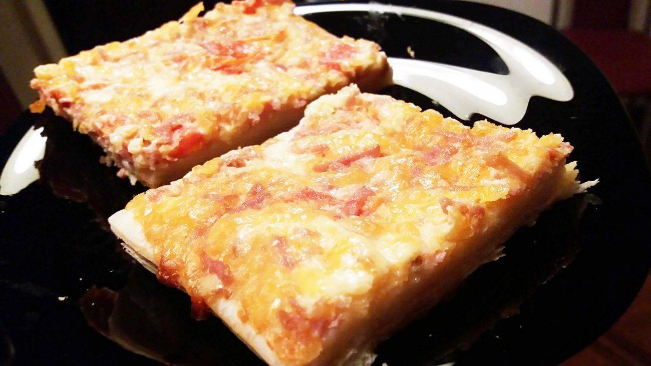 Пицца в духовке простой рецепт без дрожжей