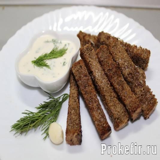 Гренки из черного хлеба с ароматным чесноком – 7 проверенных пошаговых рецептов с фото