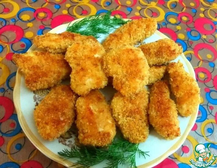 Куриное филе в панировочных сухарях на сковороде - 13 пошаговых фото в рецепте