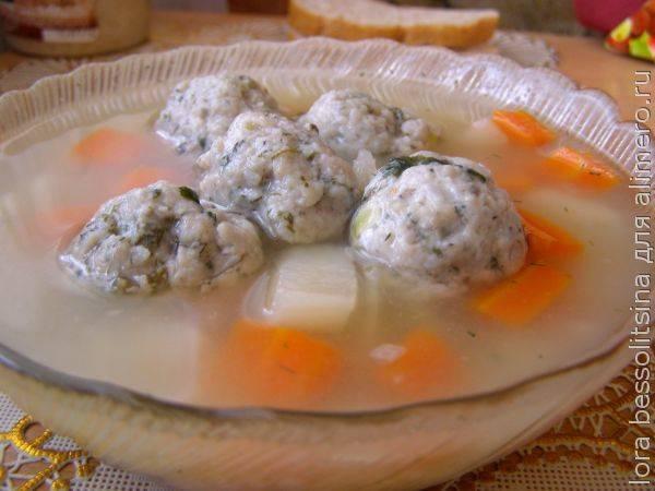 Легкий, но сытный супчик с рыбными фрикадельками – полезное питание
