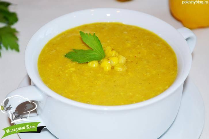 Картофельный суп с кукурузной крупой