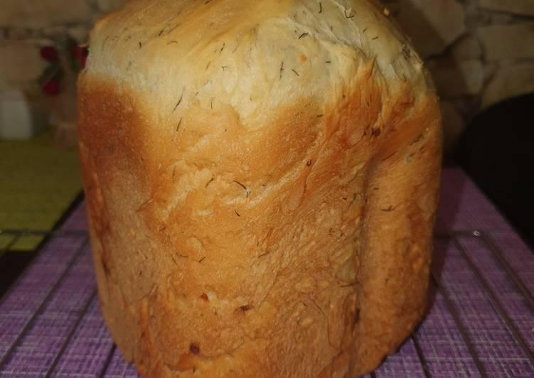 Хлеб с зеленью и чесноком в духовке постный