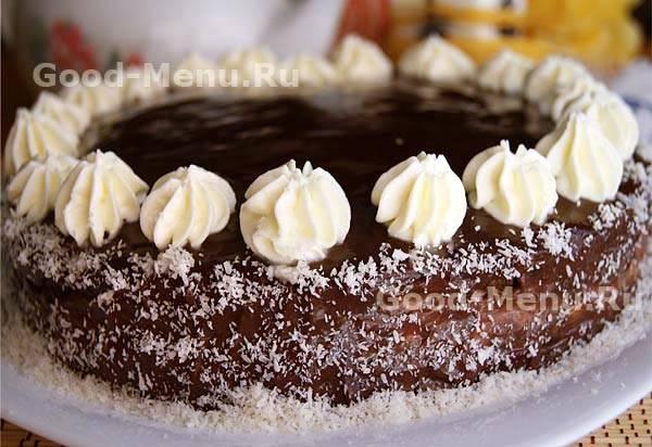 Пошаговый рецепт шоколадного бисквитного торта с фото