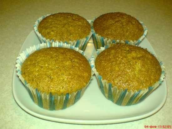 Закусочные кексы с капустой и ветчиной