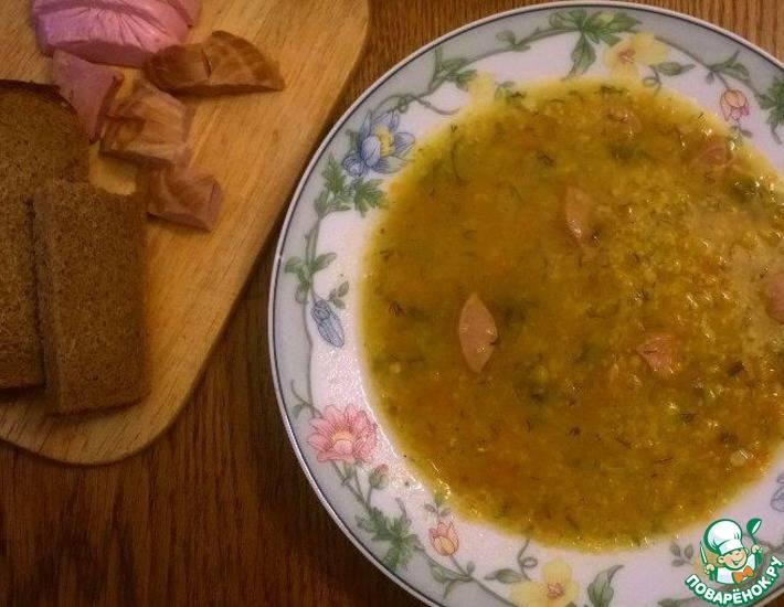 Томатно-кукурузный суп с грибами