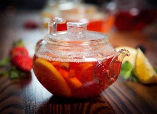 Чай с клюквой польза классический рецепт с имбирем лимоном медом мятой