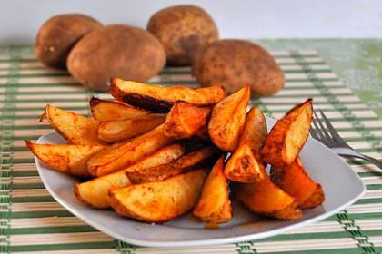 Картофельные дольки в духовке. пошаговый рецепт с фото • кушать нет