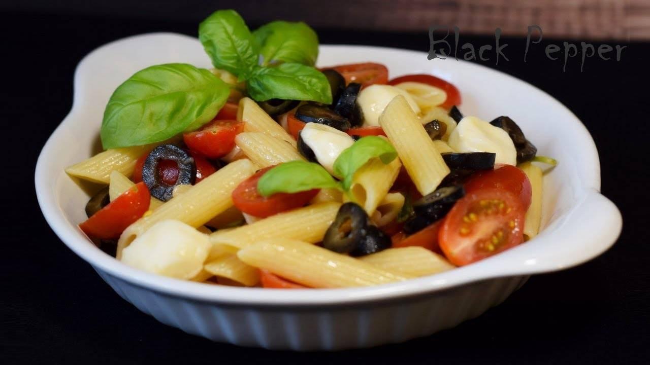 Салат с персиками и моцареллой рецепт с фото