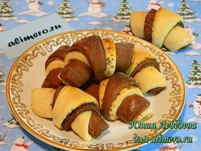Маковый рогалик из сдобного дрожжевого теста - рецепт с фотографиями - patee. рецепты