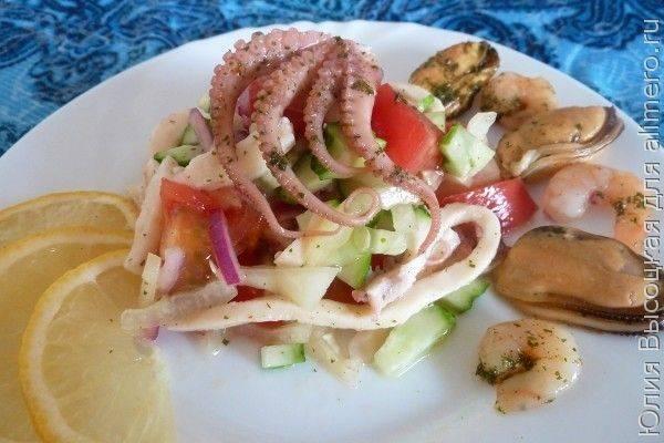 Салаты из морепродуктов по вкусным и очень простым рецептам