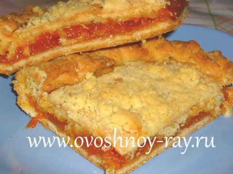 Пошаговый рецепт приготовления пирога с курагой