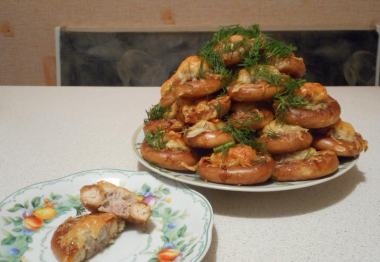 Рецепты фаршированных сушек: баранки с мясом, овощами, творогом