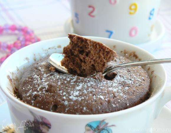 Как сделать кекс в кружке в микроволновке. рецепты с молоком и без, за 3-5 минут