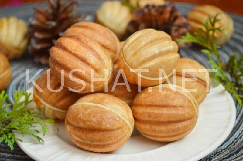 """Печенье """"орешки"""" со сгущенкой"""