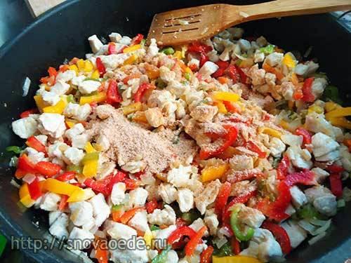 Фахитос с курицей — простой и вкусный мексиканский рецепт