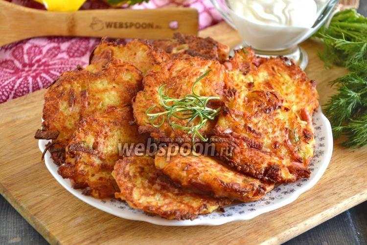 Рецепт драников из картофеля сыром и с колбасой