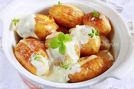 Запеченная картошка фаршированная фаршем в духовке