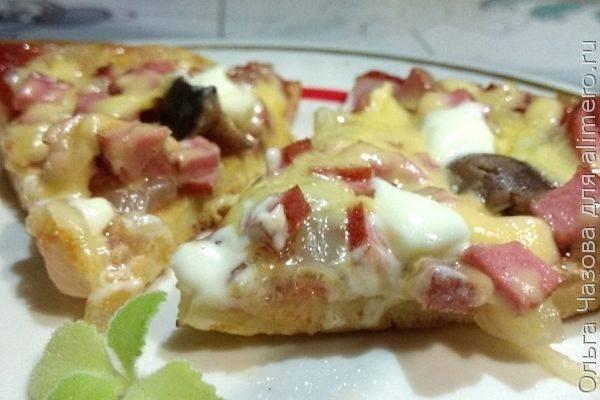 Пицца по-быстрому - 6 пошаговых фото в рецепте