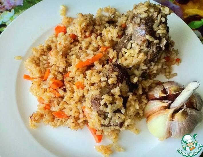 Вкусный плов с мясом утки и рисом