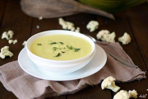 Суп-пюре из цветной капусты с яблоком