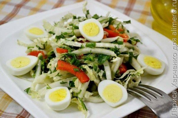 Салат из пекинской капусты и болгарского перца