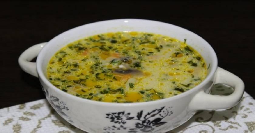 Суп сливочно-грибной с вермишелью