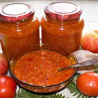 Аджика с яблоками на зиму - лучшие рецепты вкусной пикантной закуски
