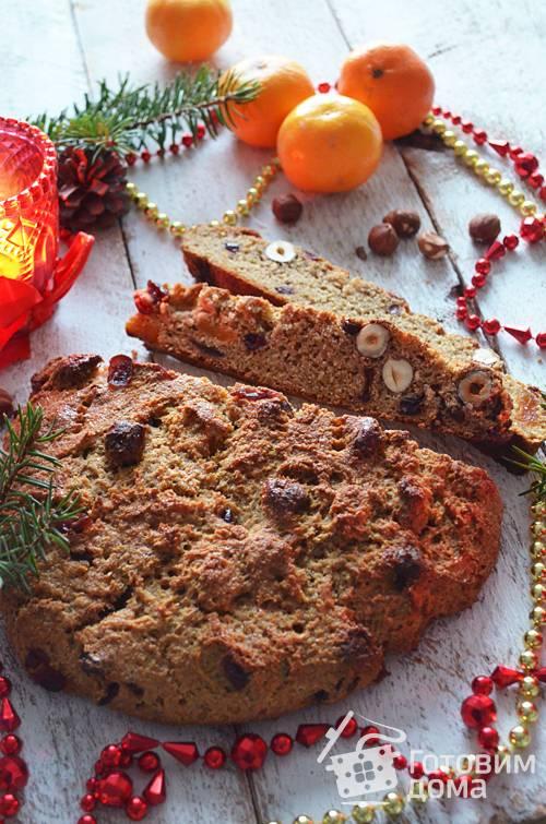 Печенье сабле с клюквой, орехами и маком