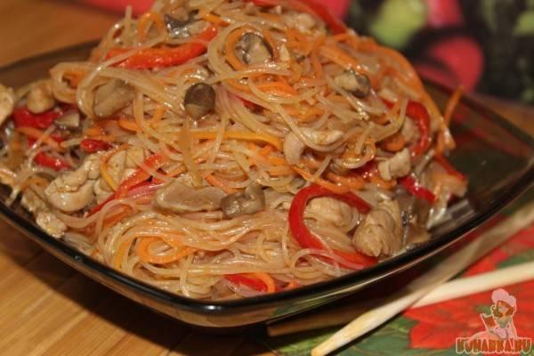 Фунчоза с овощами - 32 домашних вкусных рецепта приготовления