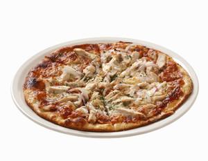 Пицца с курицей с грибами