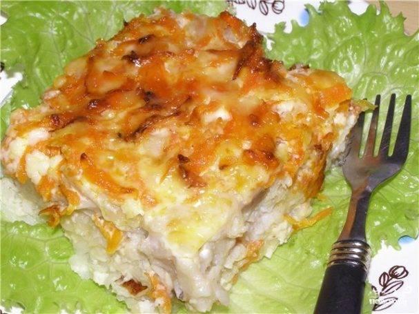 Картофель, запеченный с языком