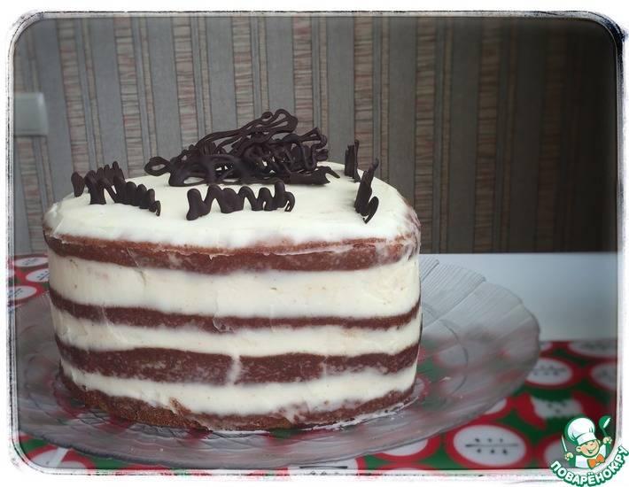 """Торт """"колибри"""" с творожным кремом"""