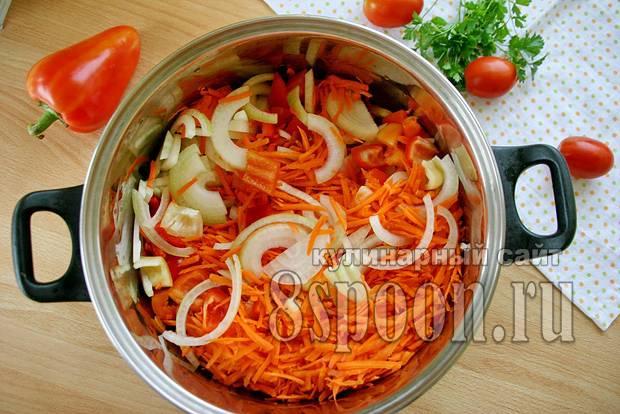 Лечо с луком и морковью - 10 пошаговых фото в рецепте