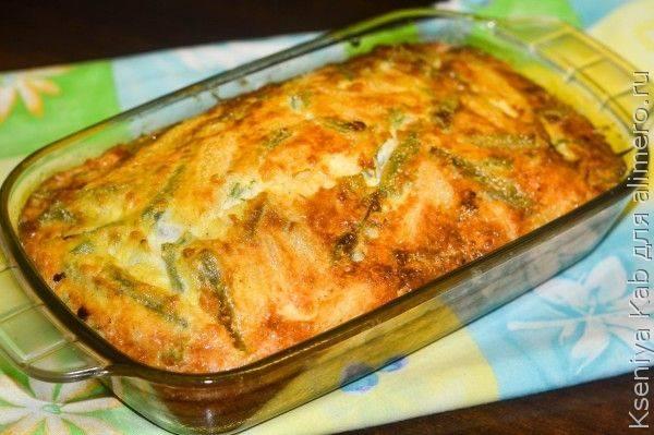 Фриттата. Рецепт со спаржевой фасолью