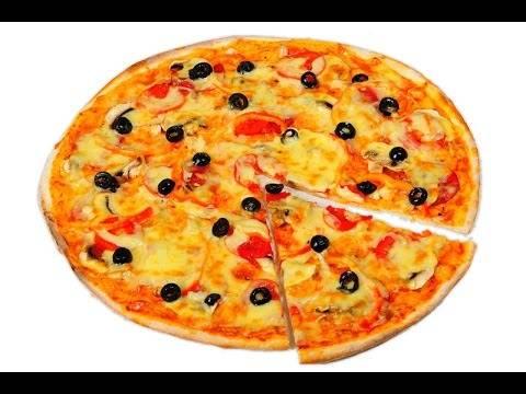 Рецепт пиццы с ветчиной и грибами в домашних условиях
