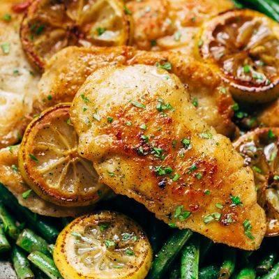 Филе куриное в лимонном соусе