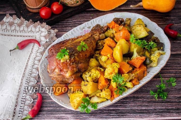 Индейка, запеченная с овощами – пошаговый рецепт с фото