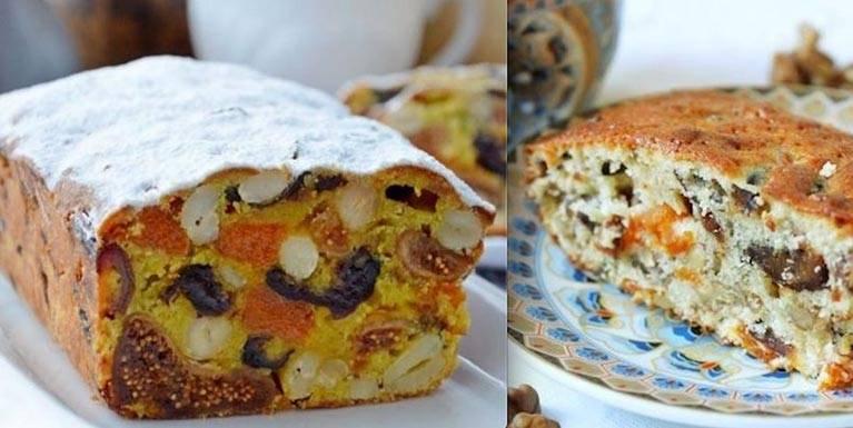 Кекс «ореховая мазурка» с сухофруктами - рецепт приготовления
