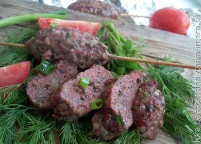 Люля кебаб в духовке рецепт  как готовить из фарша, фото
