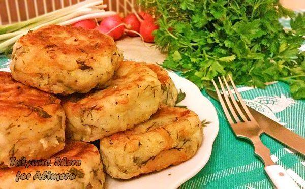 Картофельно-творожные оладьи